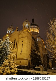 Cluj-Napoca, The cathedral in Cluj, Holy place, Church, The cathedral in Cluj in the winter