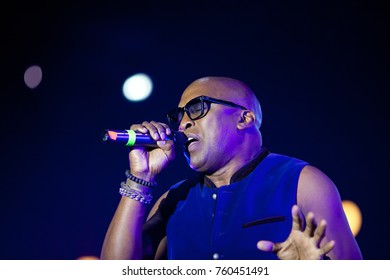 CLUJ-NAPOCA - NOVEMBER 16, 2017: Haddaway a a Trinidadian-German songwriter and musician performing on stage at We Love Retro Party, Cluj-Napoca, Romania