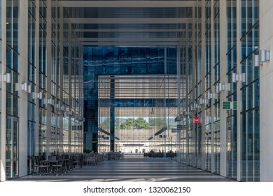 CLUJ-NAPOCA, ROMANIA - September 16, 2018: The Office building, Cluj-Napoca's new business hub