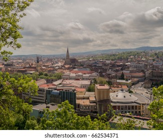 Cluj-Napoca, Upper View, Romania, Beautiful Spring Day
