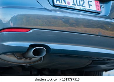 Cluj-Napoca,Cluj/Romania-09.04.2019-Clean exhaust pipes with diesel particulate filter and euro 5 technology.