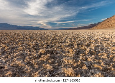Clumps of Salt and Mud Creating a Forbidding Landscape, Badwater Basin, Death Valley National Park