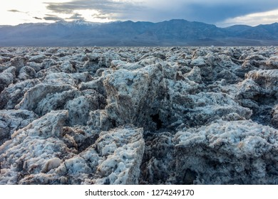 Clumps of Salt and Mud Projecting from the Ground, Devil's Gulf Cours, Death Valley National Park
