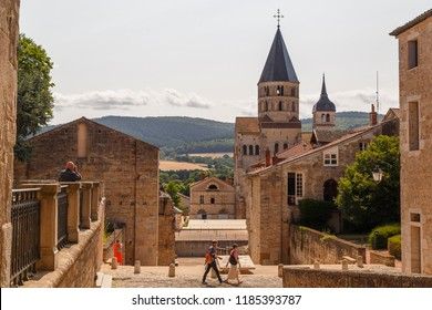 CLUNY / FRANCE - JULY 2015: Medieval abbey in the historic centre of Cluny town, France