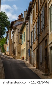 CLUNY / FRANCE - JULY 2015: Quiet street in the historic centre of Cluny town, France