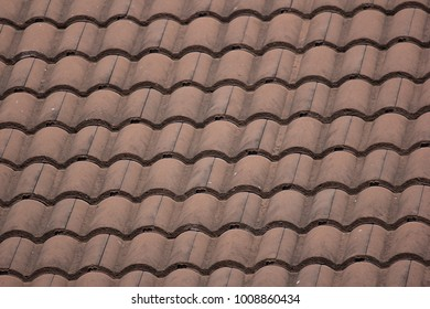 Cluse up of Old Roof Tiles of House