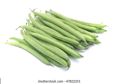A cluster of cluster beans, often an ingredient in a vegetable dish