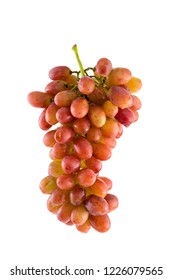 Cluster of grape on white isolated background