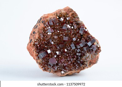 Cluster of vanadinite mineral - ore of a vanadium.
