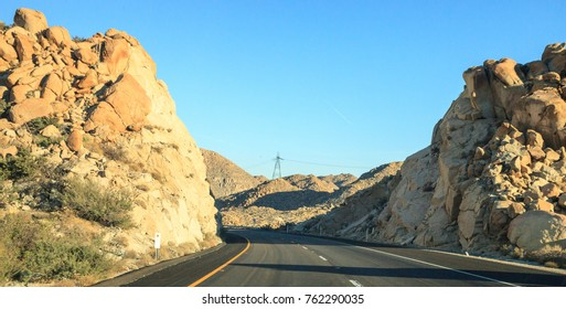 Clustered rocks in El Cajon, California, along Interstate 8 eastbound, also called Kumeyaay Highway.