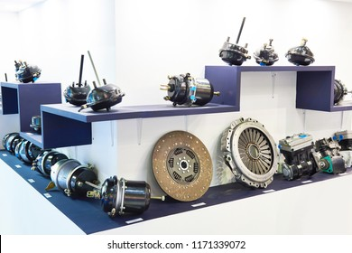 Clutch discs, pressure plate and spare parts  in the car store