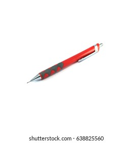 Clutch-type pencil red isolated on white background