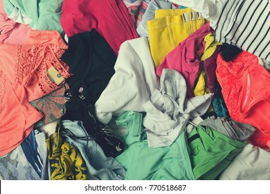 Clutter of clothes