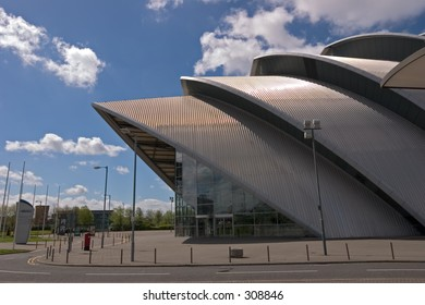 """The Clyde Auditorium, Glasgow, better known locally as """"The Armadillo"""""""