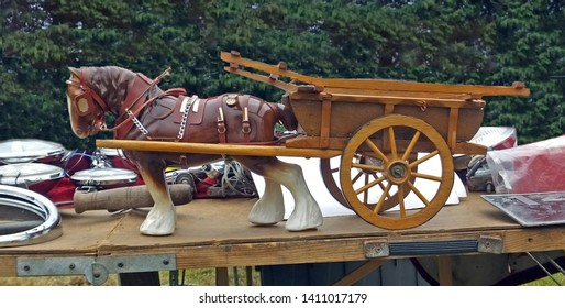 Clydesdale Horse and Cart Ornament at a craft fair in Northern Ireland