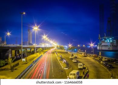 CMS Bus Stop, Outer Marina, Lagos Island, Nigeria at Dusk