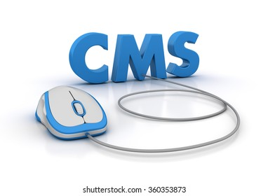 CMS Word with Computer Mouse - High Quality 3D Render