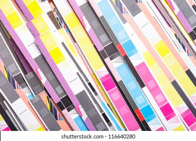 CMYK color on printed sheets of paper after cutting