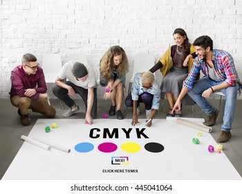 CMYK Color Printing Ink Model Concept
