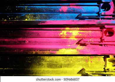 CMYK ink toner ,abstract