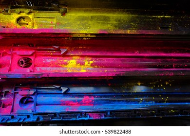 CMYK ink toner,abstract