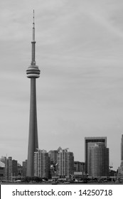 CN Tower from Toronto in Black and White.