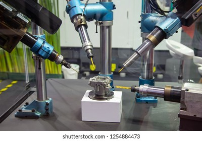 CNC drilling machine perform drilling engine part