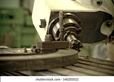 CNC drilling and milling in a workshop