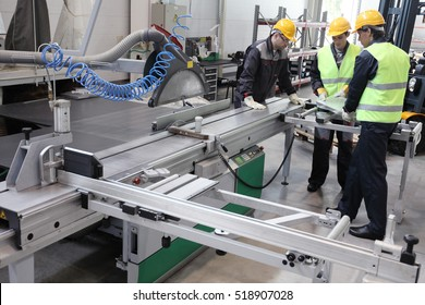 CNC machine shop with lathes, technicians and workers