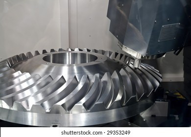 cnc machine tools in the work
