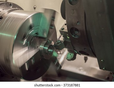 CNC machine at work.