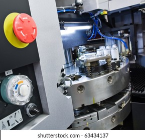 cnc machinery with control panel