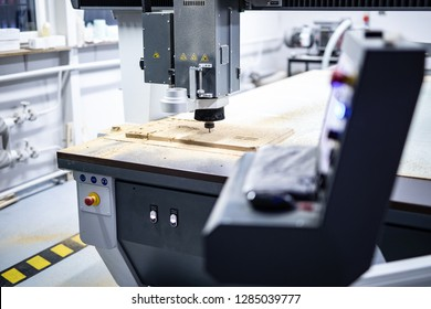 CNC milling machine while working