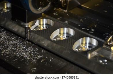 Cnc milling machine in work