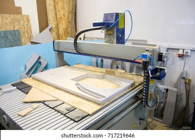 CNC router machine creates a layout of the residential complex