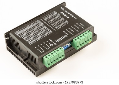 CNC Stepper motor driver isolated above white background