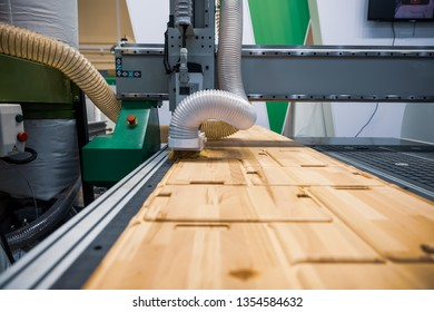 CNC woodworking wood processing machine, modern technology in the industry.