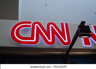 CNN Logo - Fort Lauderdale--Hollywood Airport Newsstand, Florida, AMERICA - News Corporation - July 28 2017