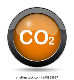 CO2 icon. CO2 website button on white background.