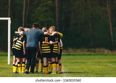 Coach Coaching Junior Football Team