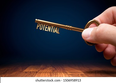 Coach (manager, mentor, HR specialist) has a key to unlock potential - motivation concept.