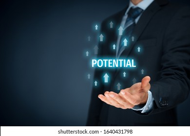 Coach motivate to fulfil growing potential – visual metaphor and concept. Mentor give opportunity of growing potential.