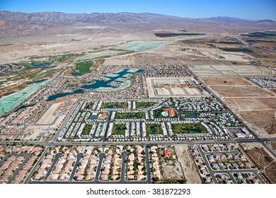Coachella Valley and Indio Hills aerial view