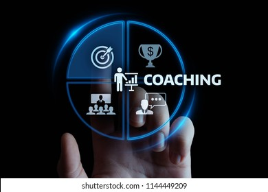Coaching Mentoring Education Business Training Development E-learning Concept.