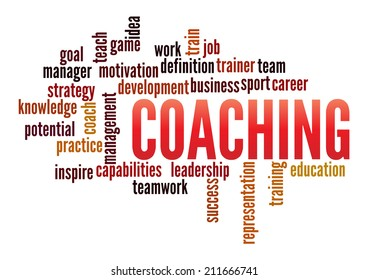 Coaching in word collage