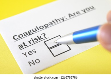 Coagulopathy: are you at risk? yes or no