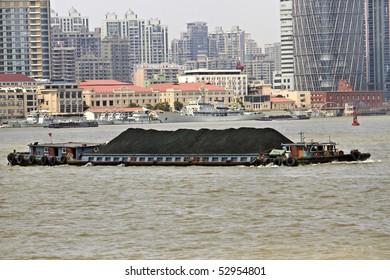 Coal Barge in Shanghai