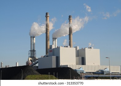 A coal and biomass fired powerplant in Rotterdam, Netherlands