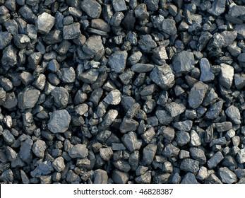 coal, carbon, black background