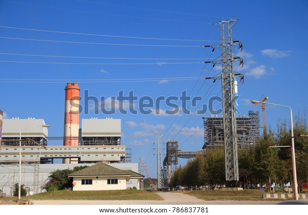 Coal Fire Electric Power Plant Generate Stock Photo (Edit